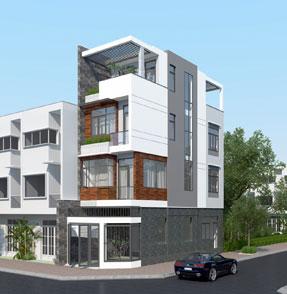 Công ty Ngôi Nhà Hoàn Hảo thiết kế mặt tiền nhà phố 4.5m
