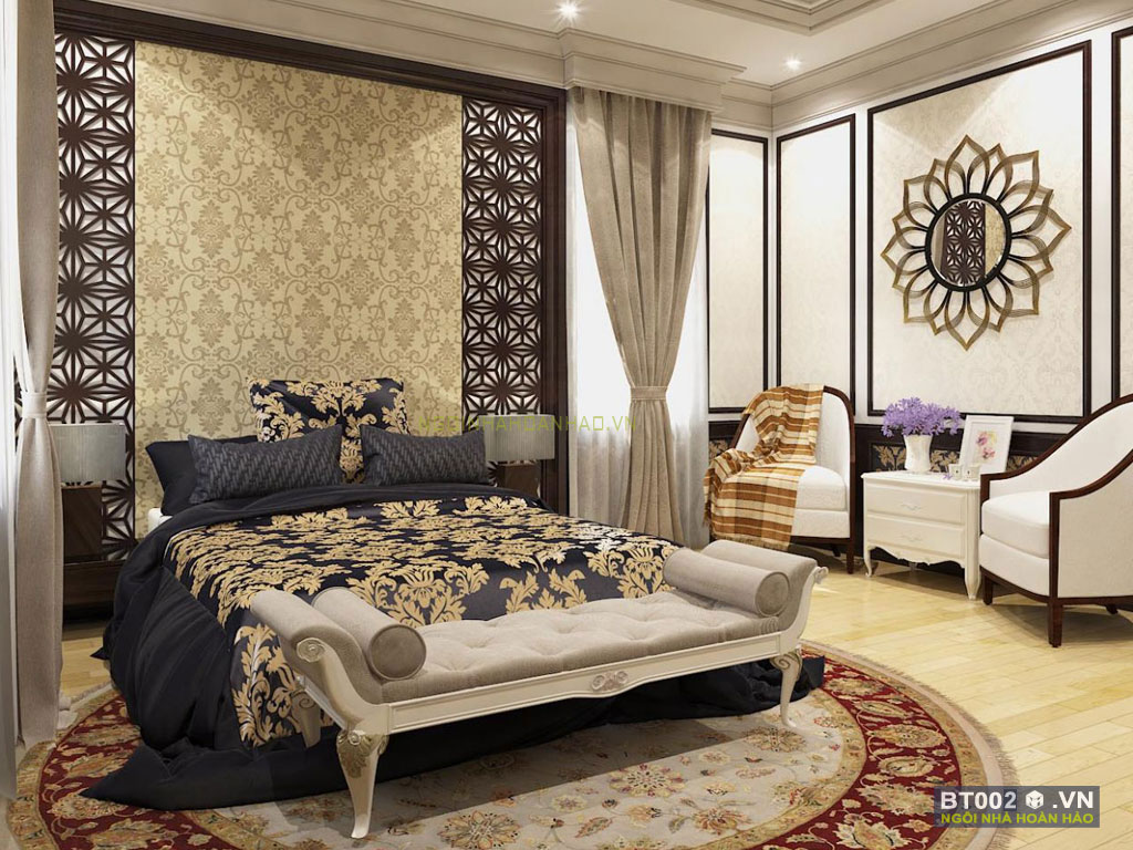 biệt thự cổ điển 3 tầng phòng ngủ