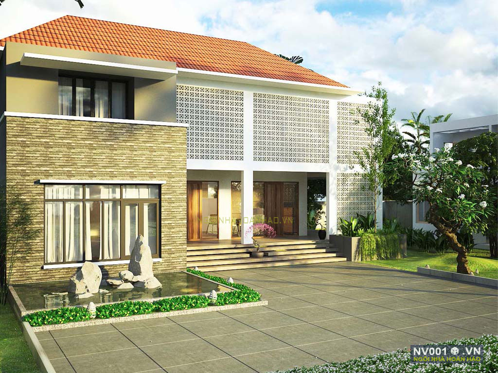nhà vườn 1 tầng ở Quảng Bình NV001b