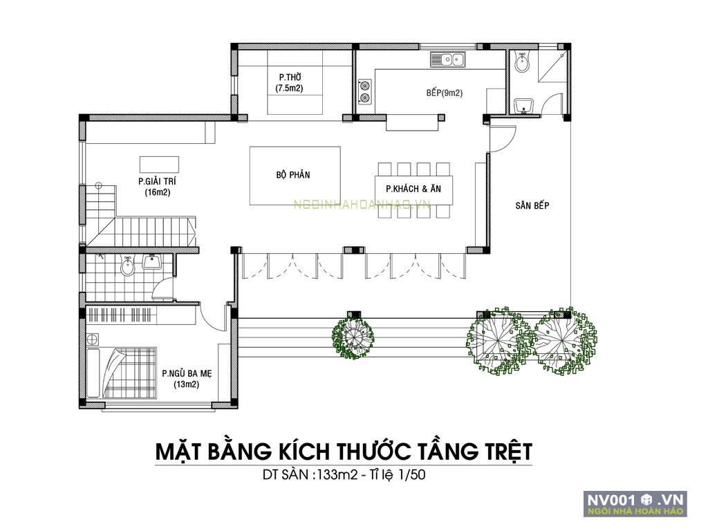 nhà vườn 1 tầng ở Quảng Bình NV001h