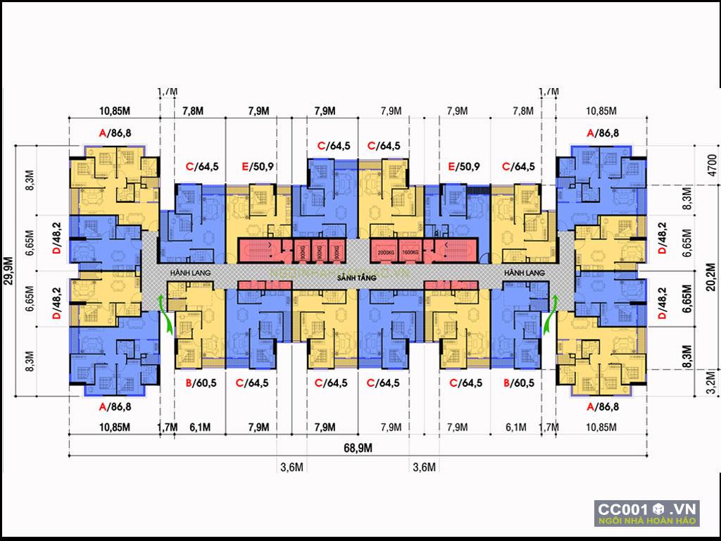 thiết kế chung cư 001e