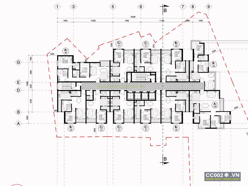 thiết kế chung cư đẹp cc002b