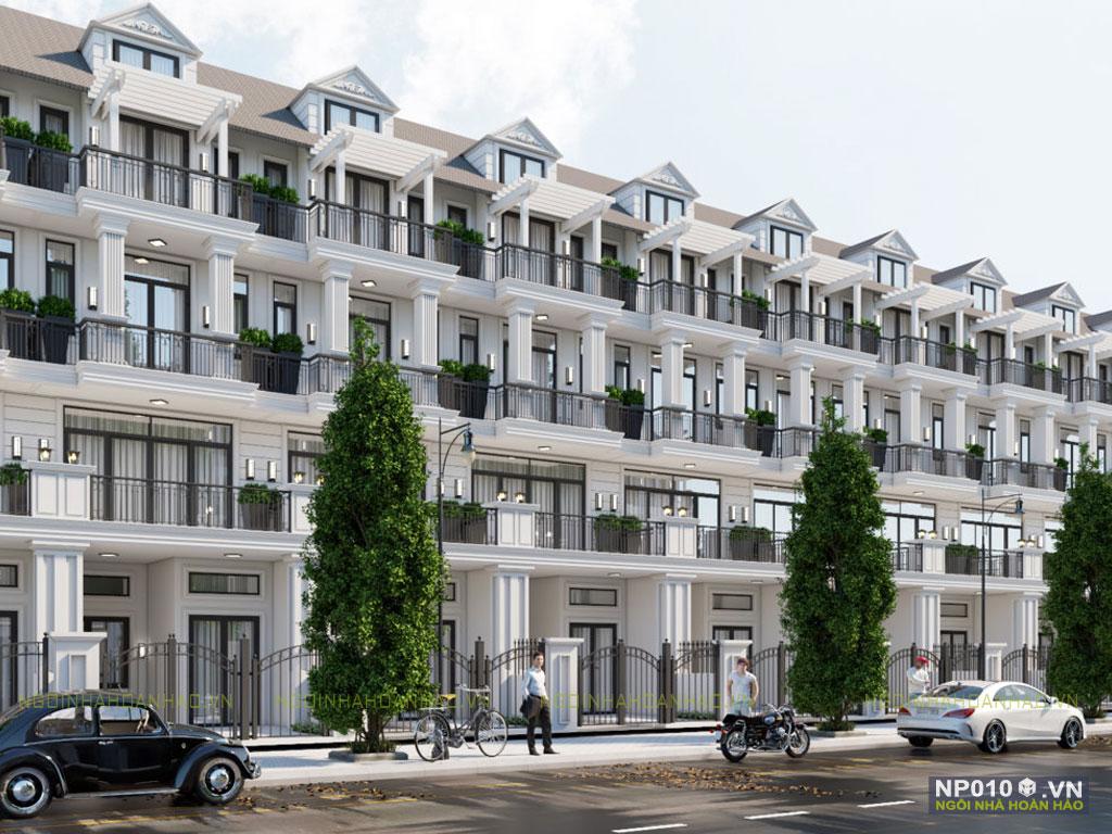 thiết kế dãy nhà phố NP010h
