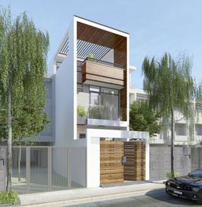 Nhà phố 3 tầng hiện đại 001