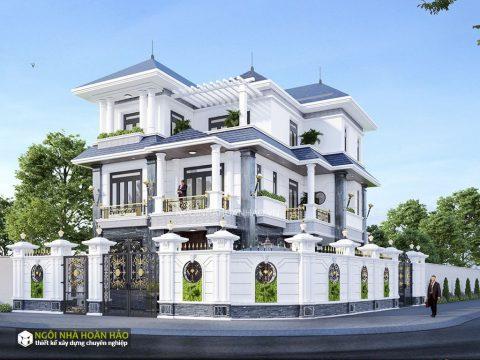 Thiết kế biệt thự cổ điển anh Lâm ở Long An