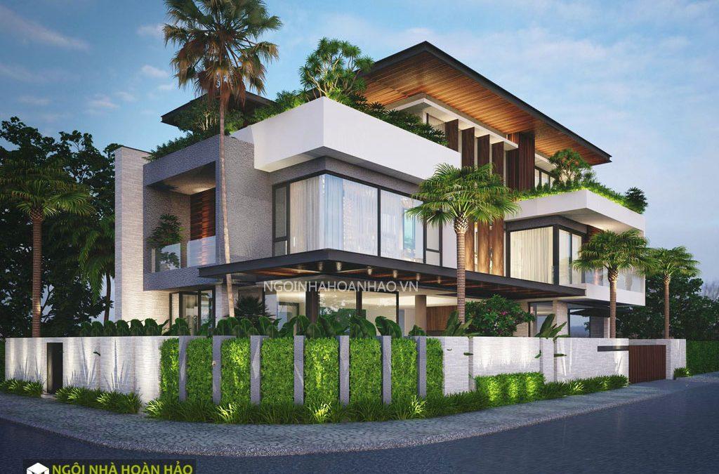 Thiết kế biệt thự hiện đại 3 tầng Vũng Tàu