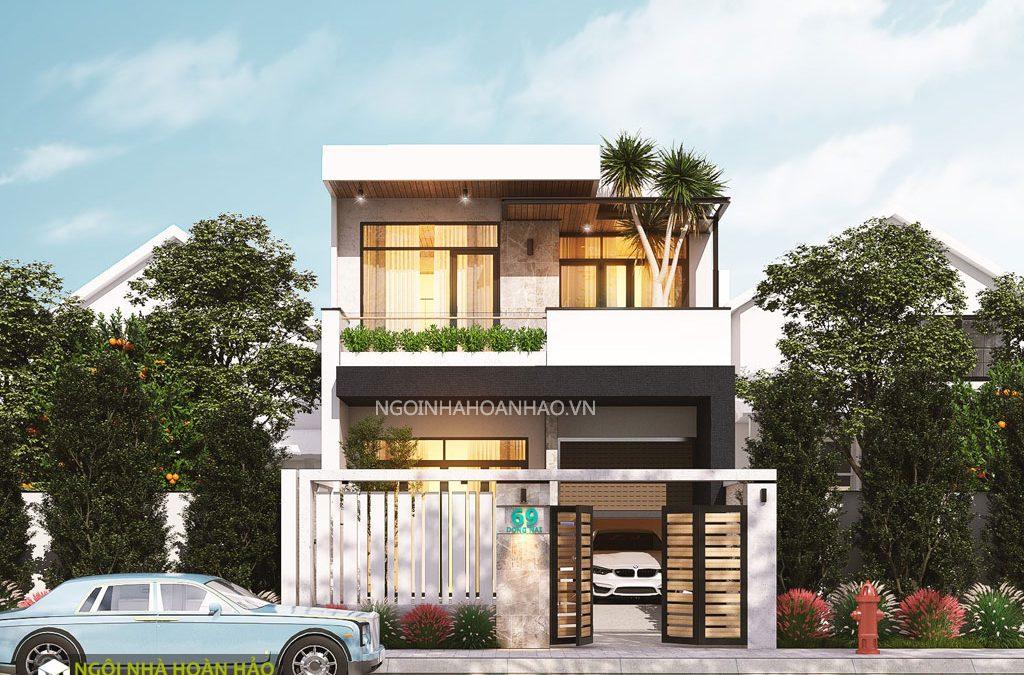 Thiết kế nhà phố 2 tầng anh Bình ở Đồng Nai