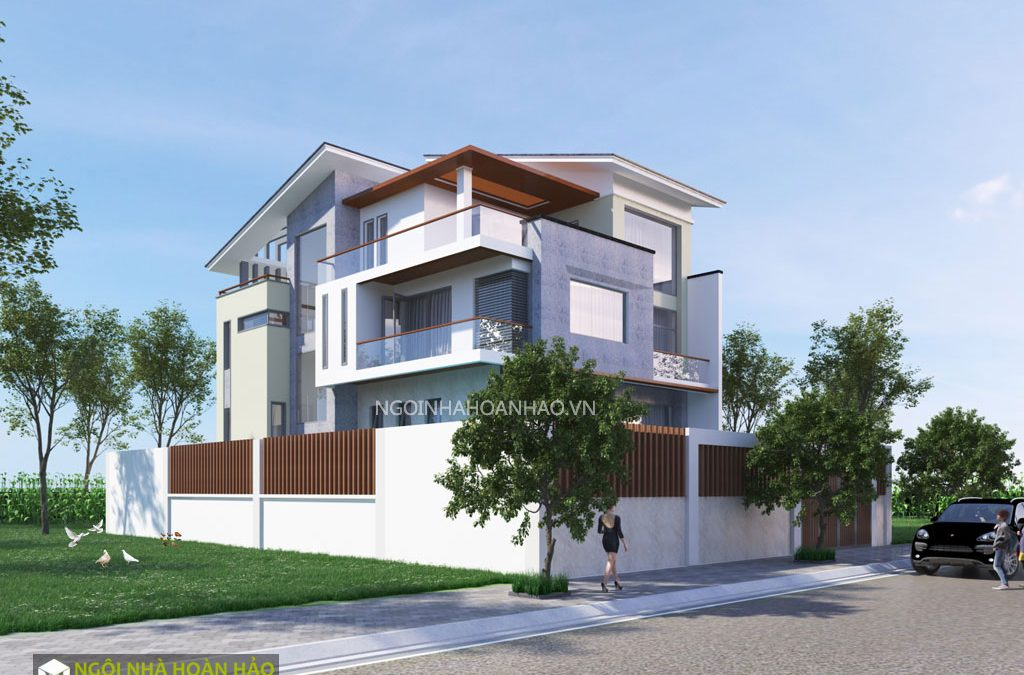Biệt thự hiện đại mặt tiền 10m: view 1