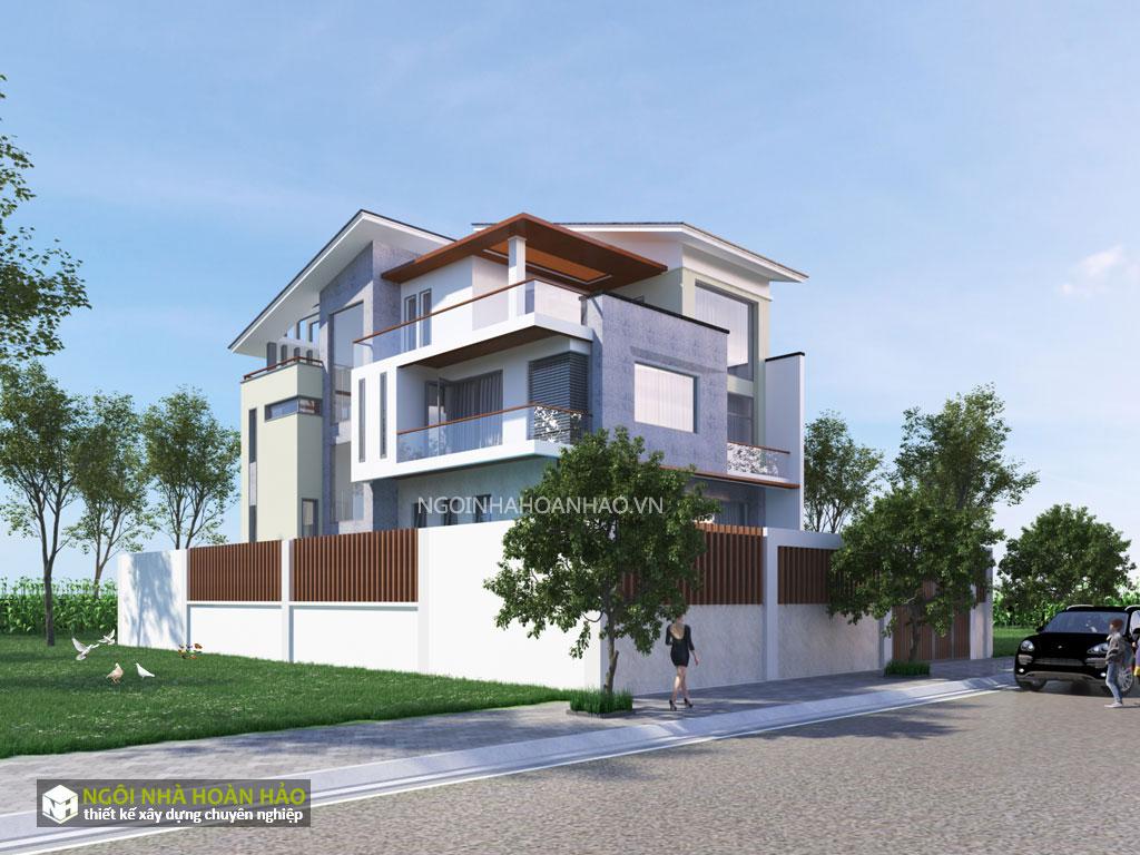 Biệt thự hiện đại mặt tiền 10 m: view 1