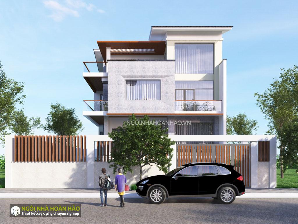 Biệt thự hiện đại mặt tiền 10 m: view 3
