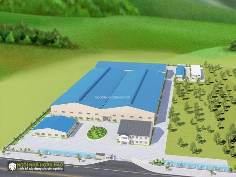 Phối cảnh 1: dự án nhà máy công ty Eson Việt Nam