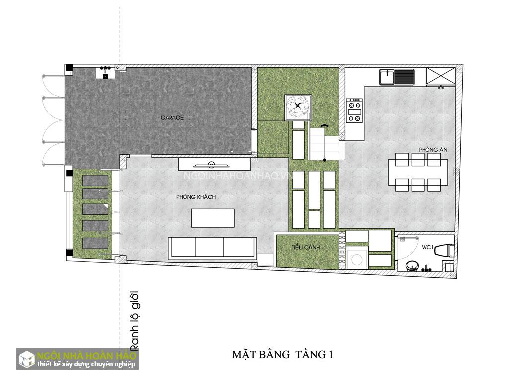 Nhà phố hiện đại 3 tầng mặt tiền 6,8m 3