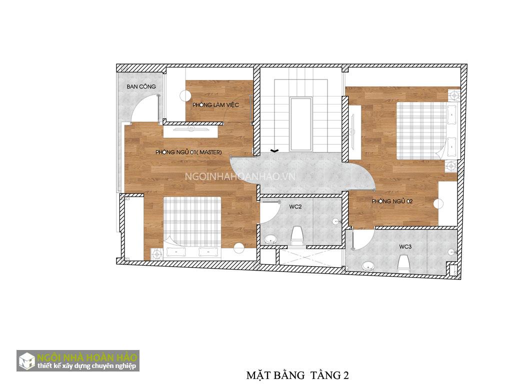 Nhà phố hiện đại 3 tầng mặt tiền 6,8m 4
