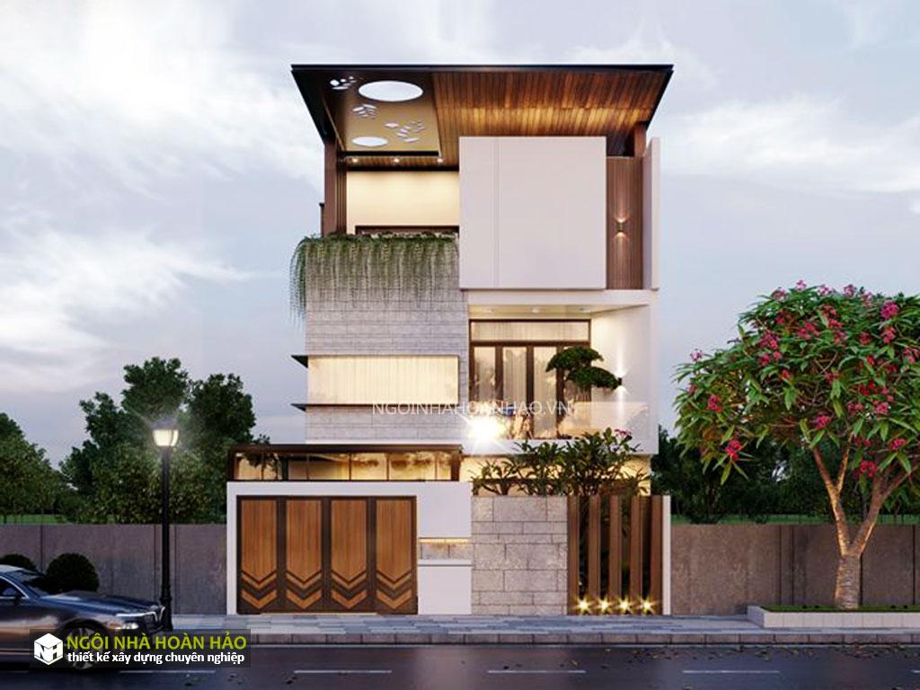 Thiết kế biệt thự phố hiện đại mặt tiền 6m chị bích 1