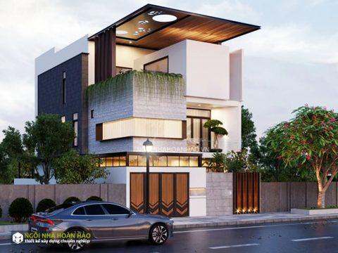 Thiết kế biệt thự phố hiện đại mặt tiền 6m chị bích 2