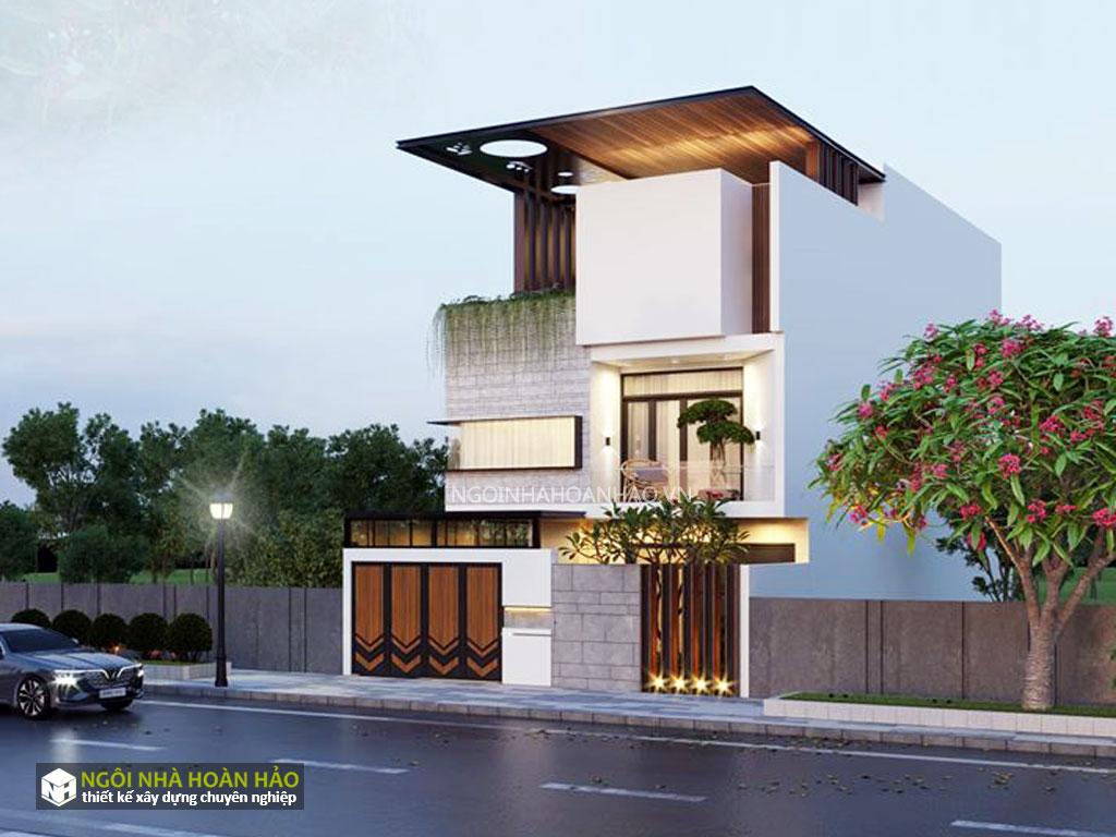 Thiết kế biệt thự phố hiện đại mặt tiền 6m chị bích 3