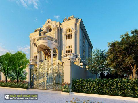 Thiết kế biệt thự tân cổ điển chị Giao: view 1