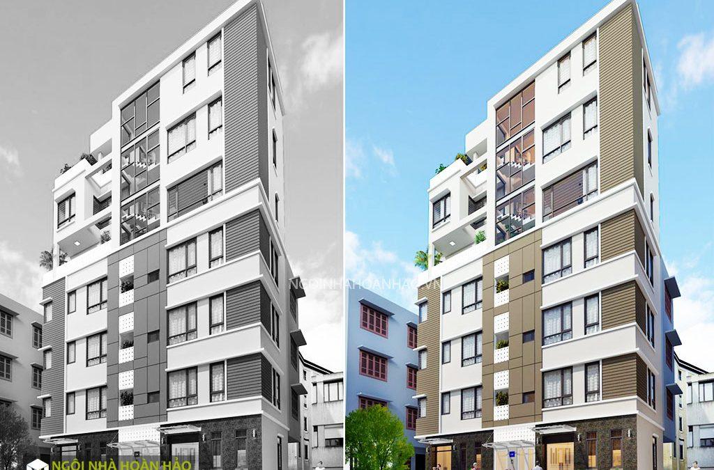 Thiết kế chung cư mini Thanh Vũ: phối cảnh chính