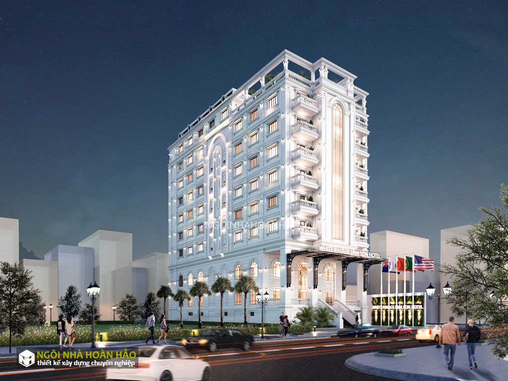 Thiết kế khách sạn tân cổ điển: phối cảnh góc