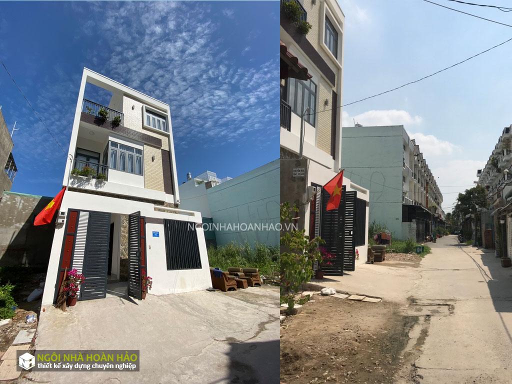 Hình thực tế nhà phố hiện đại anh Đạt