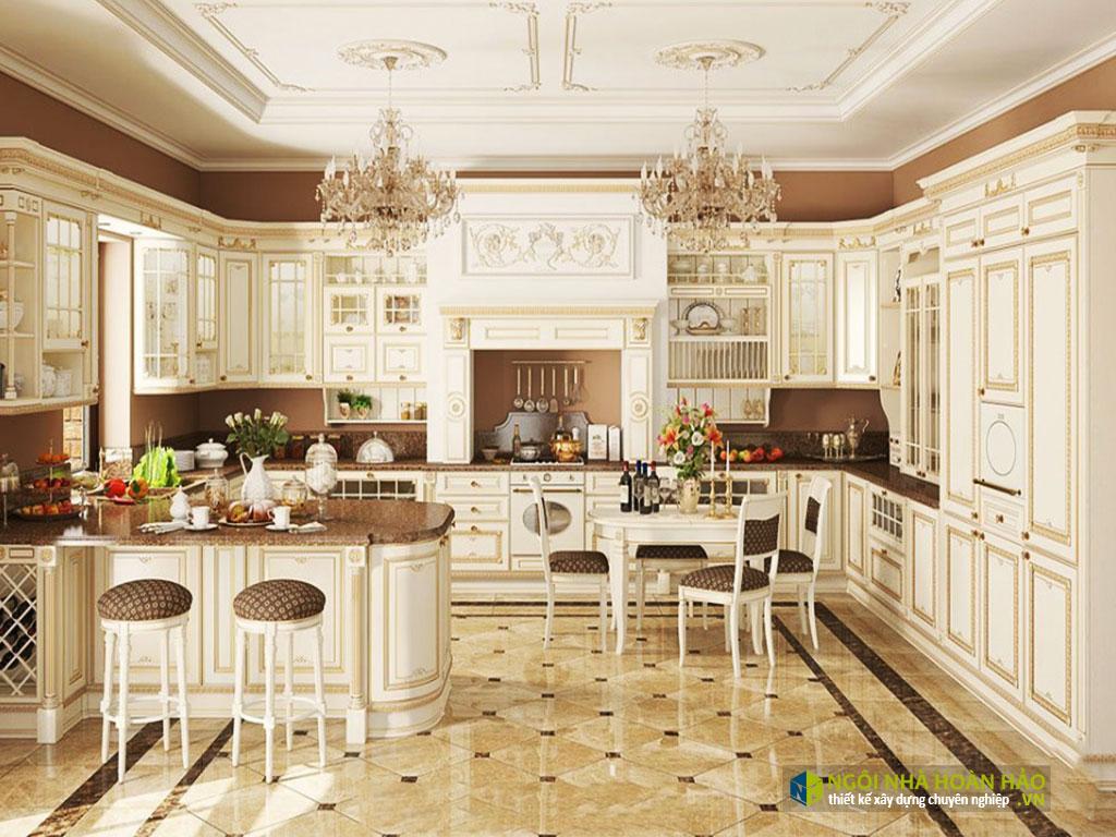 Mẫu bếp đẹp tân cổ điển 17