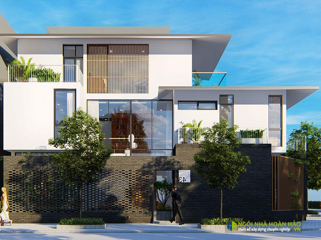 Căn Biệt thự hiện đại đẹp ở Bắc Đồng Phú: mặt bên