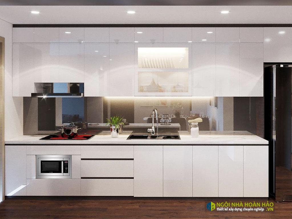 Phòng bếp đẹp ở tầng lửng