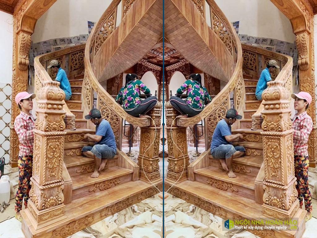 Đồ gỗ nội thất cao cấp cầu thang