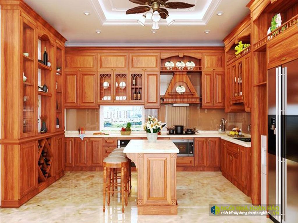 Phòng bếp bằng đồ gỗ nội thất cao cấp
