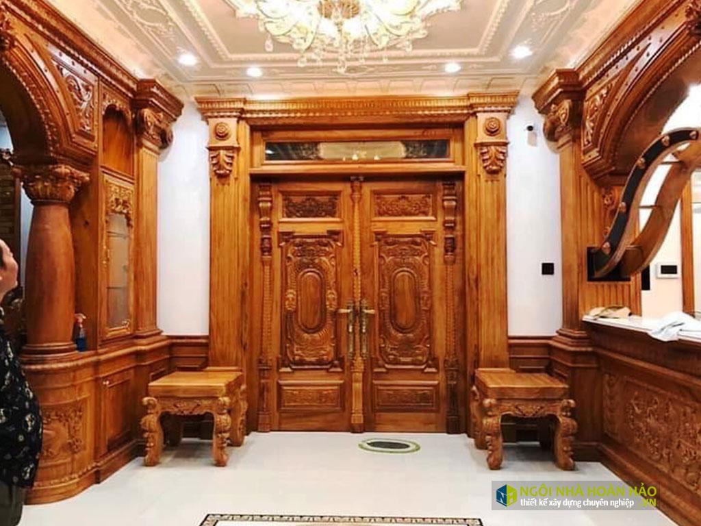 Phòng khách bằng đồ gỗ nội thất cao cấp
