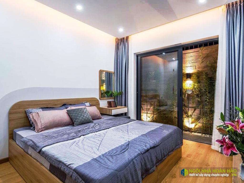 Hình thực tế nhà phố hiện đại 2 tầng: phòng ngủ 1