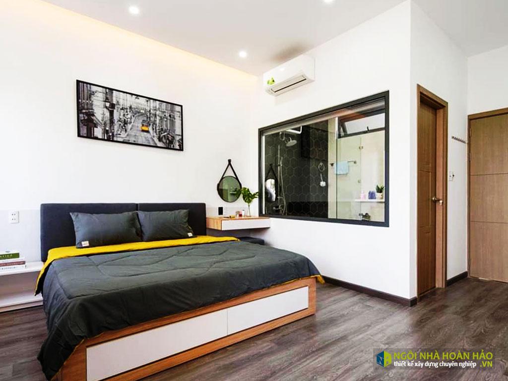 Hình thực tế nhà phố hiện đại 2 tầng: phòng ngủ 2