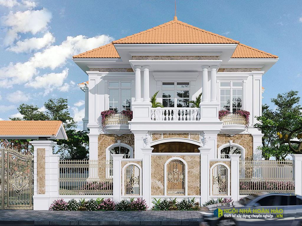 Mẫu nhà đẹp biệt thự 2 tầng tân cổ điển