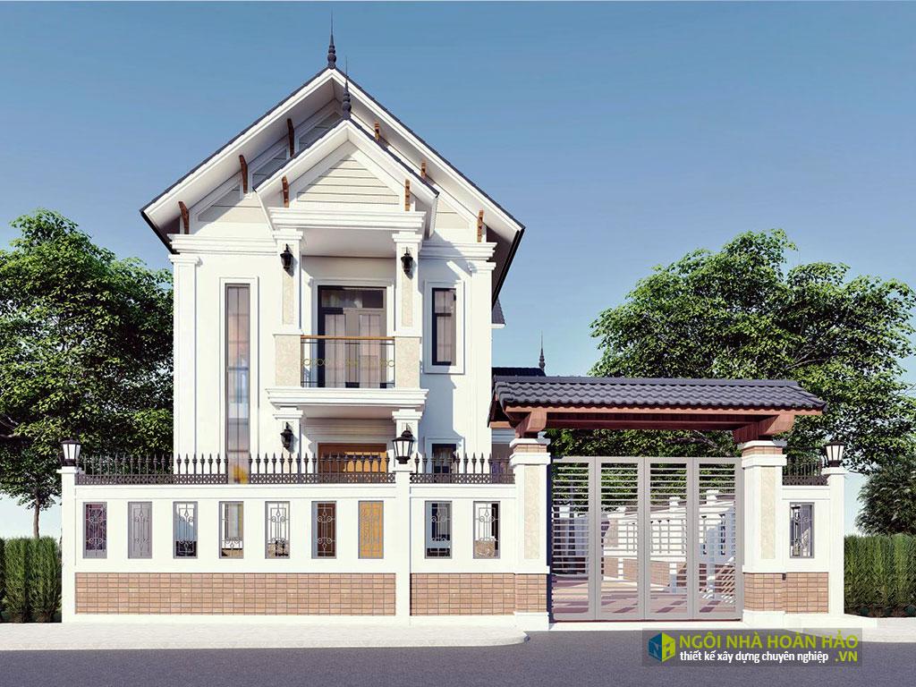 Mẫu nhà đẹp tân cổ điển 2 tầng