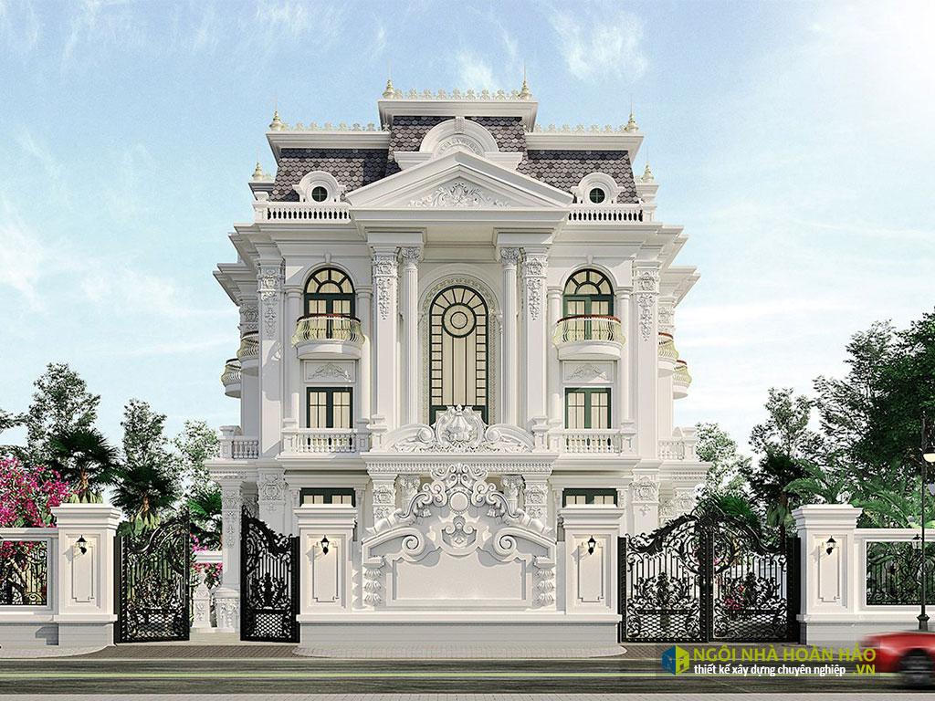 Mẫu nhà đẹp biệt thư 3 tầng tân cổ điển