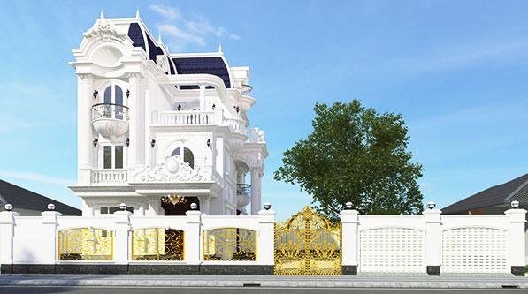 Mẫu biệt thự tân cổ điển 4 tầng trang chủ 2021