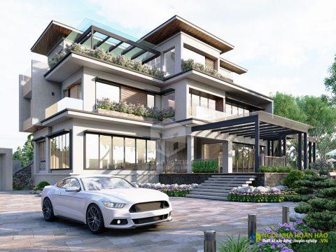Mẫu thiết kế phối cảnh biệt thự hiện đại nhà đẹp