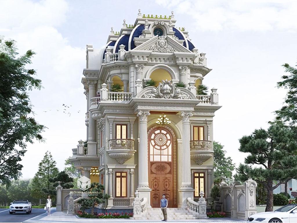 Mẫu biệt thự tân cổ điển 3 tầng: phối cảnh chính
