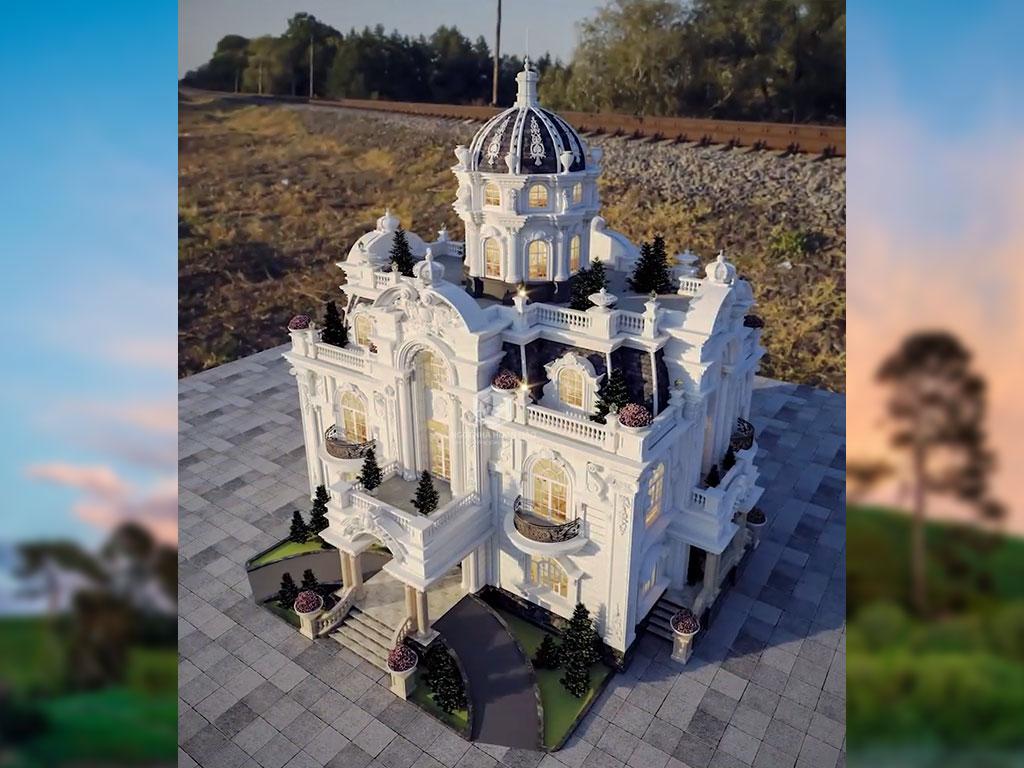 Phối cảnh tổng thể lâu đài bình phước