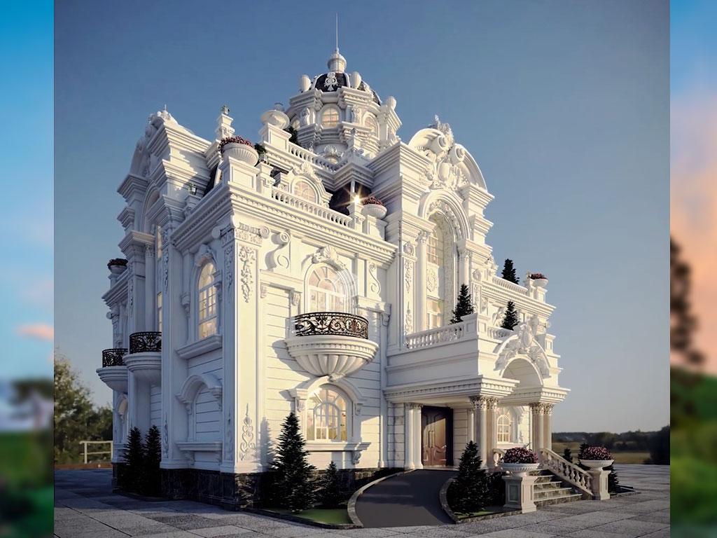 Thiết kế dinh thự đẹp tân cổ điển ở Bình Phước