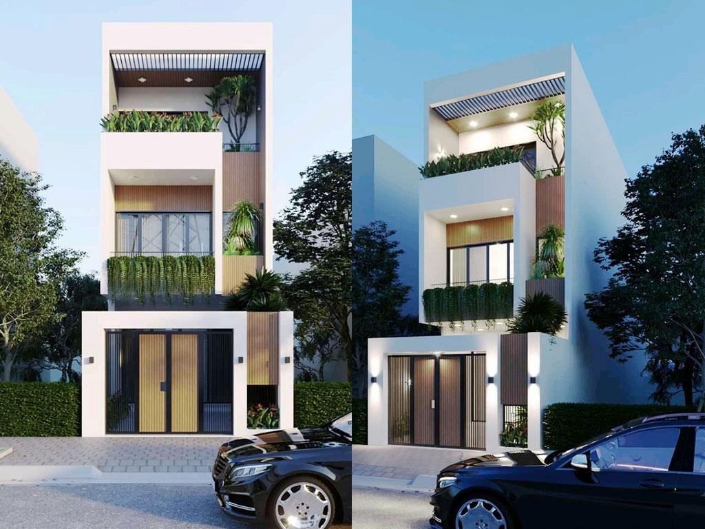 Mẫu nhà phố đẹp hiện đại đơn giản