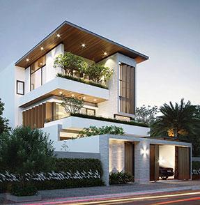 Mẫu nhà đẹp biệt thự hiện đại 3 tầng trang chủ