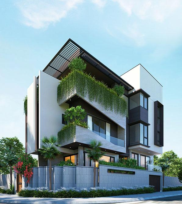 Mẫu nhà đẹp 2022 biệt thự hiện đại bình phước