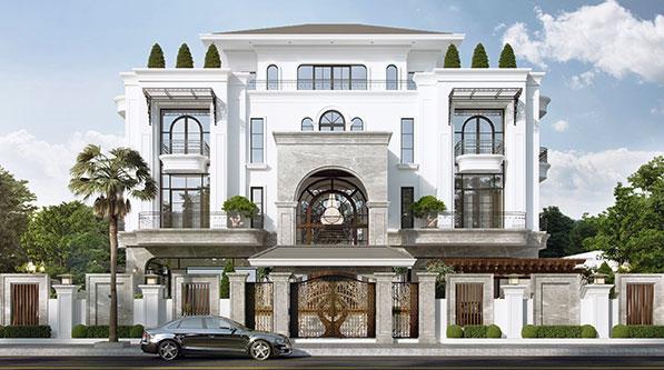 Mẫu nhà đẹp biệt thự tân cổ điển 4 tầng trang chủ