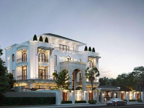 Thiết kế mẫu nhà đẹp biệt thự tân cổ điển Long An